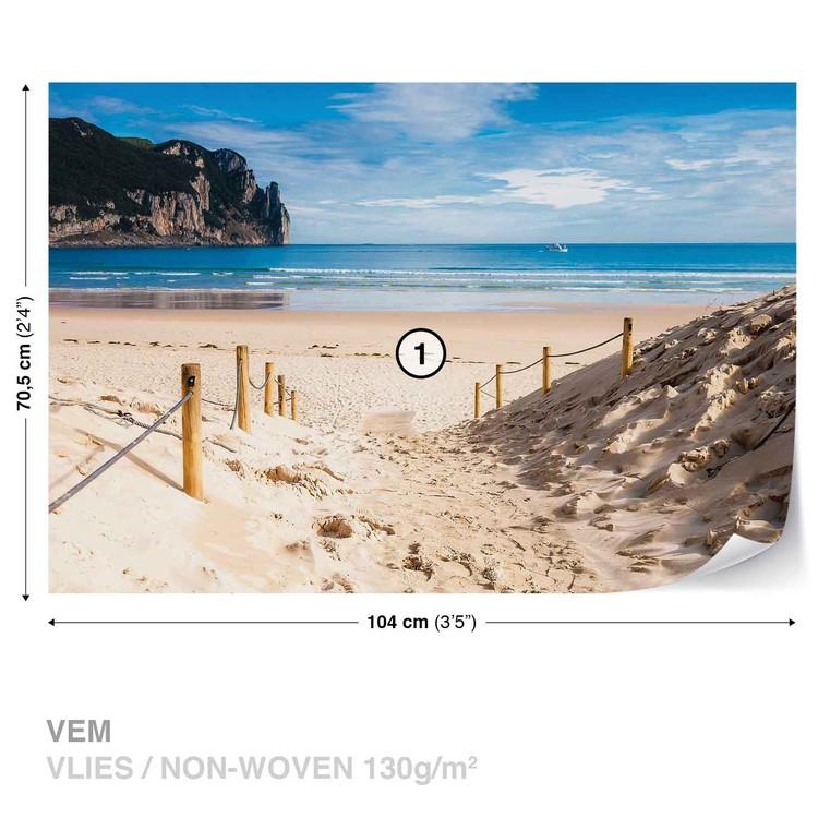 Beach Path Nature Sea Sand Cliff Wallpaper Mural