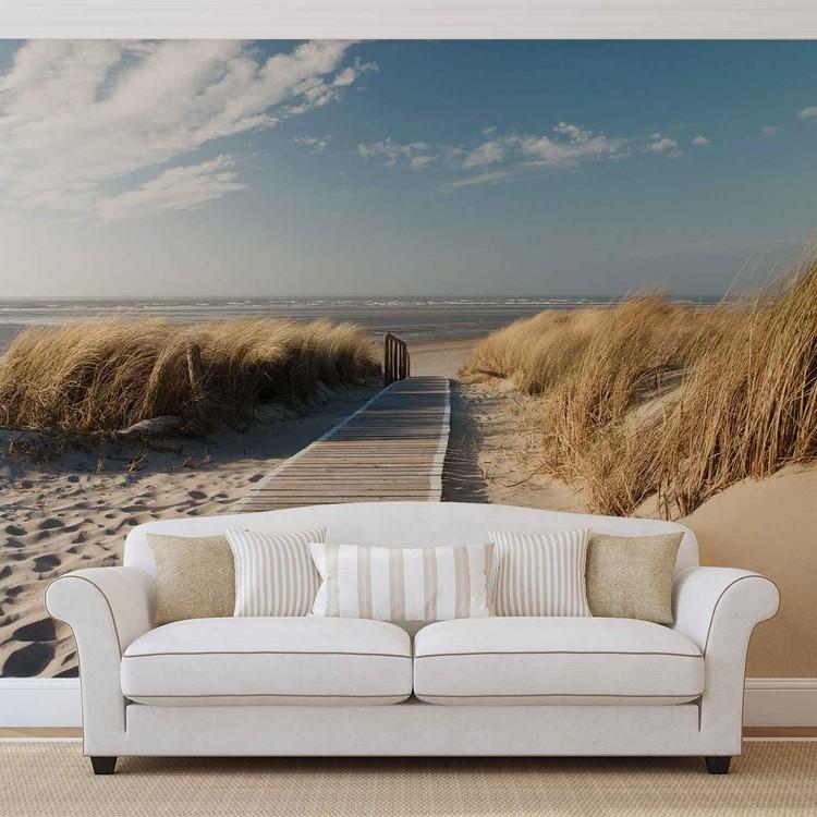 Beach Scene Wallpaper Mural