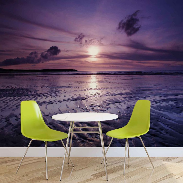 Beach Sunset Wall Paper Mural Buy At Europosters