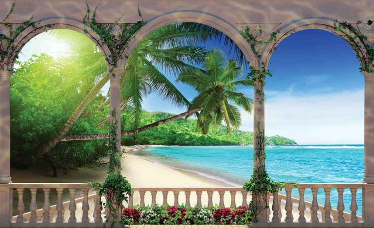 Beach Tropical Wallpaper Mural