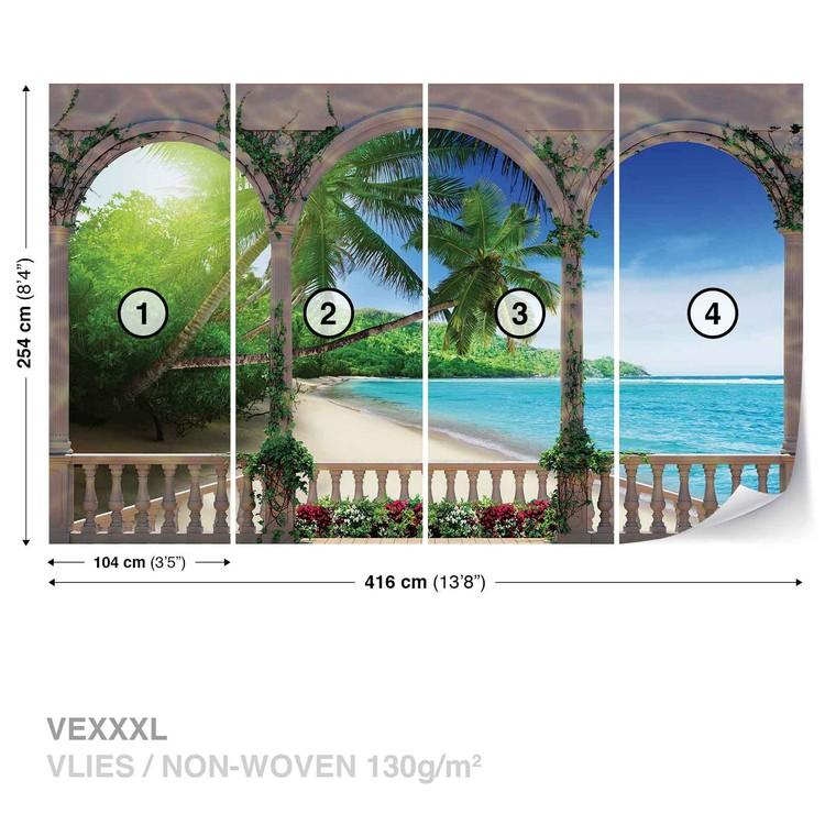 Beach Tropical Wallpaper Mural