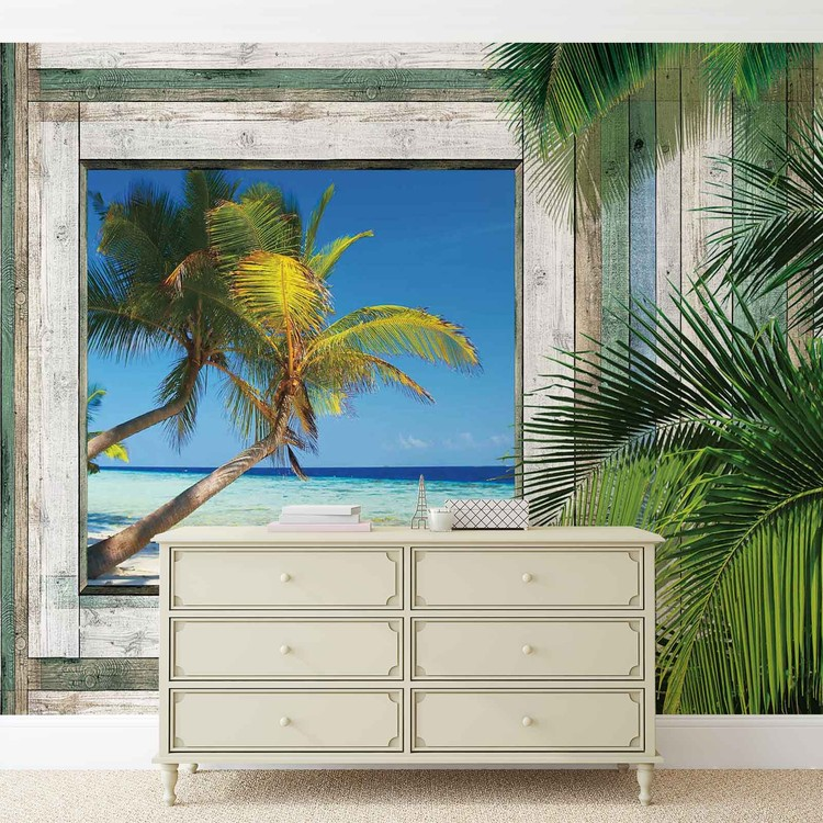 Beach Tropical View Wallpaper Mural