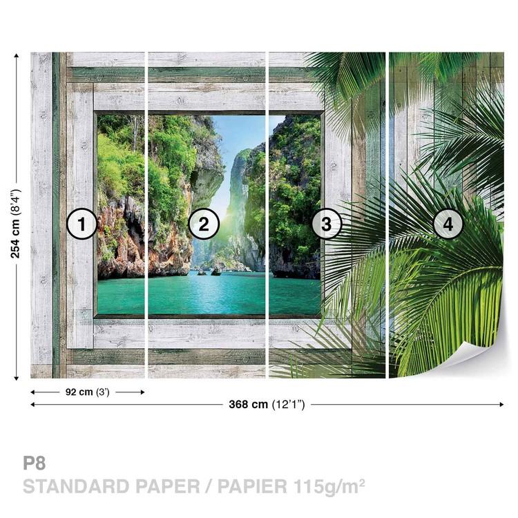 Beach Tropical View Wallpaper Mural