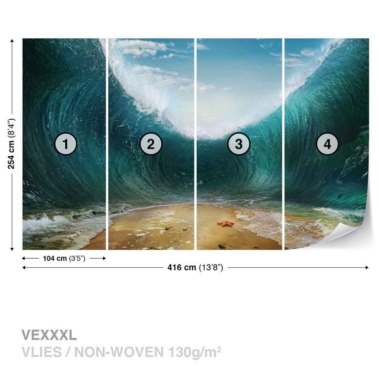 Beach Waves Sea Wallpaper Mural