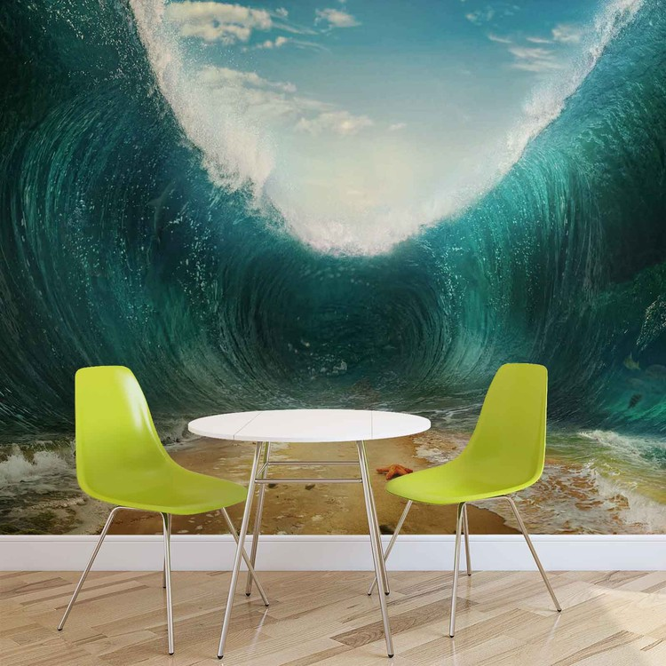 Beach Waves Sea Wallpaper Mural
