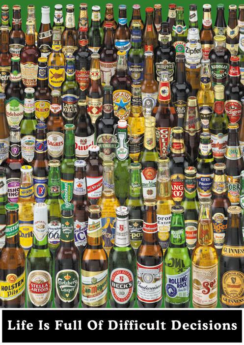 Beer - life is full ... Wallpaper Mural