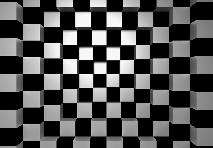 Black + White Squares Wallpaper Mural