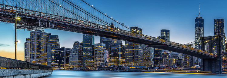 Blue Hour over New York Wallpaper Mural