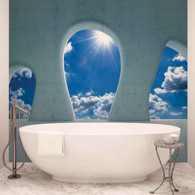 Blue Sky View Modern Wallpaper Mural