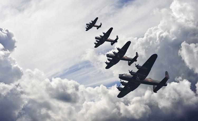 Bomber planes Wallpaper Mural