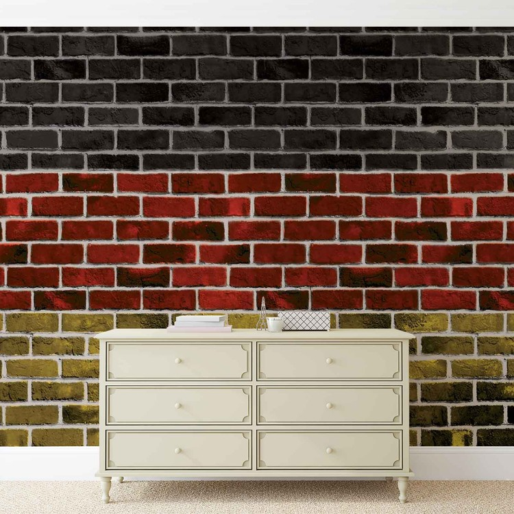 Brick German Flag Wallpaper Mural