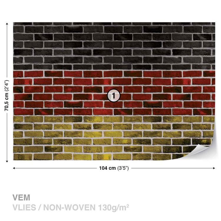 Brick German Flag Wallpaper Mural