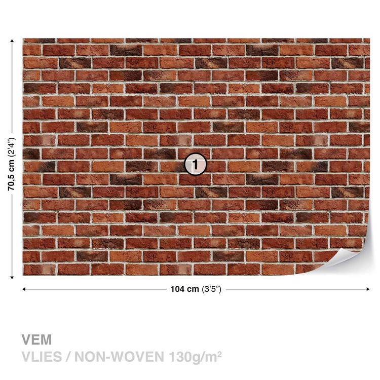 Brick Wall Wallpaper Mural