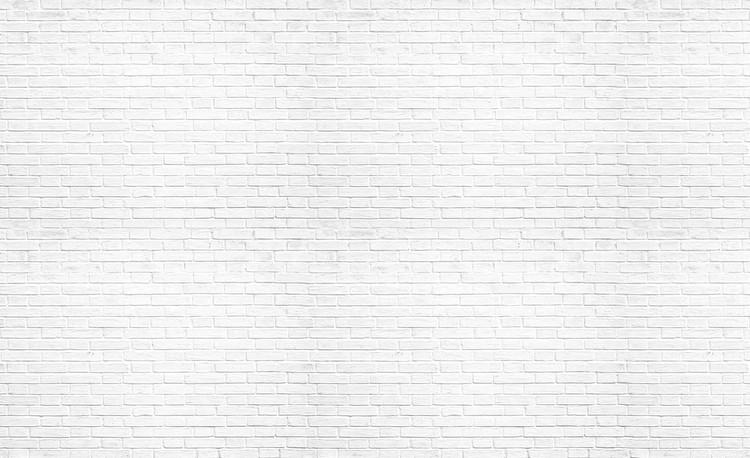Brick Wall White Wallpaper Mural