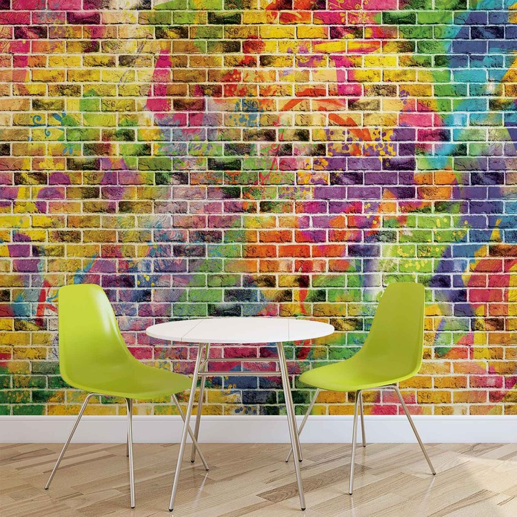 Bricks Multicolour Wallpaper Mural