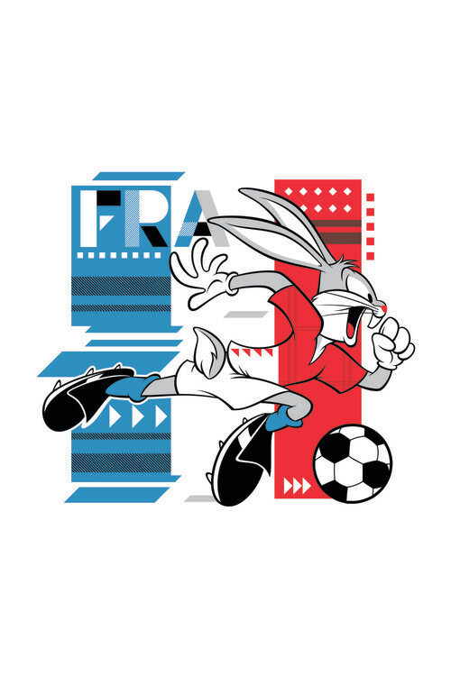Wallpaper Mural Bunny and football