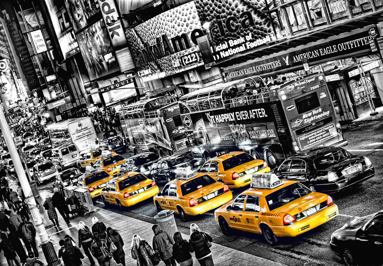 CABS QUEUE Wallpaper Mural