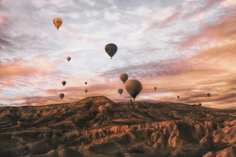 Cappodocia Hot Air Balloon Wallpaper Mural