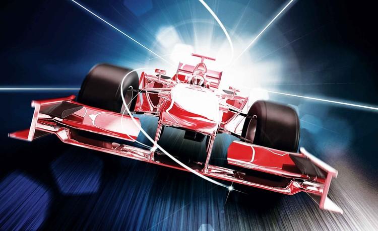 Car Formula 1 Red Wallpaper Mural