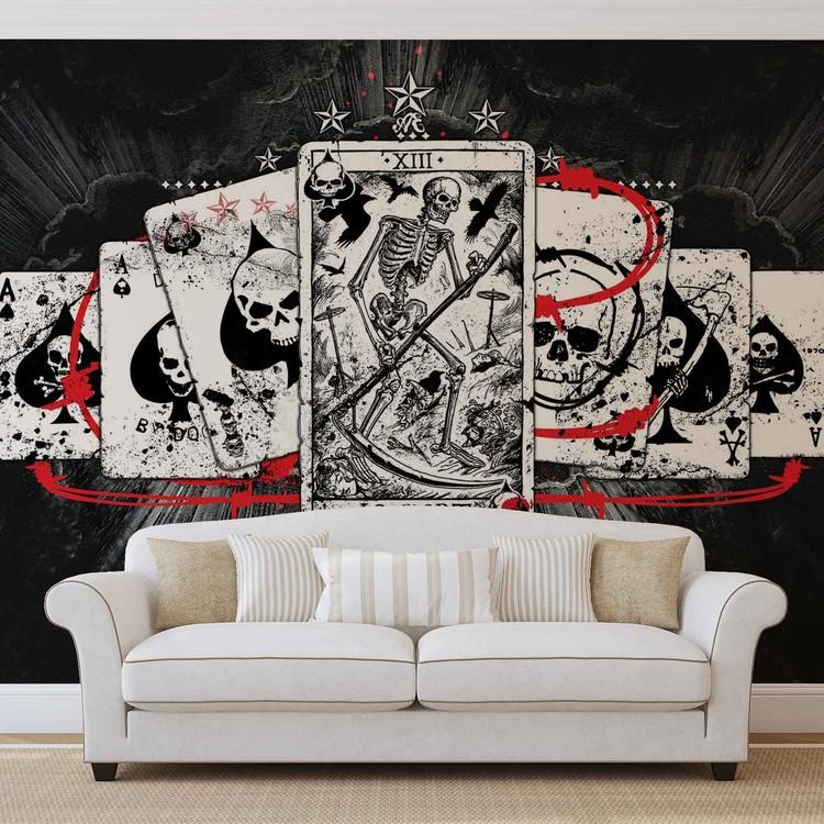 Cards Skull Tarot Wallpaper Mural