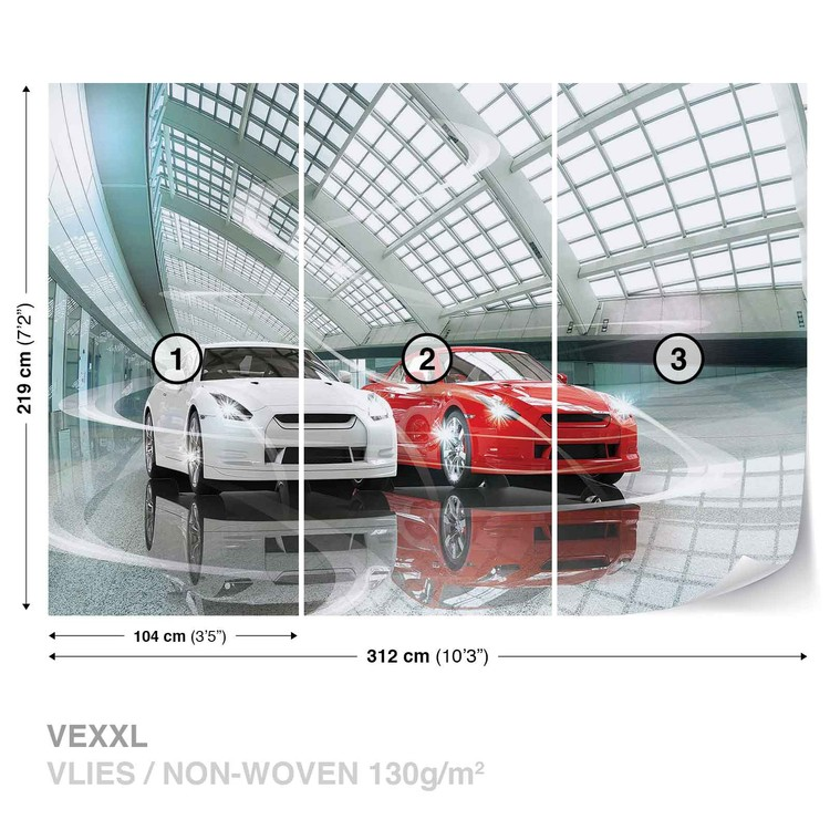 Cars Transport Wallpaper Mural