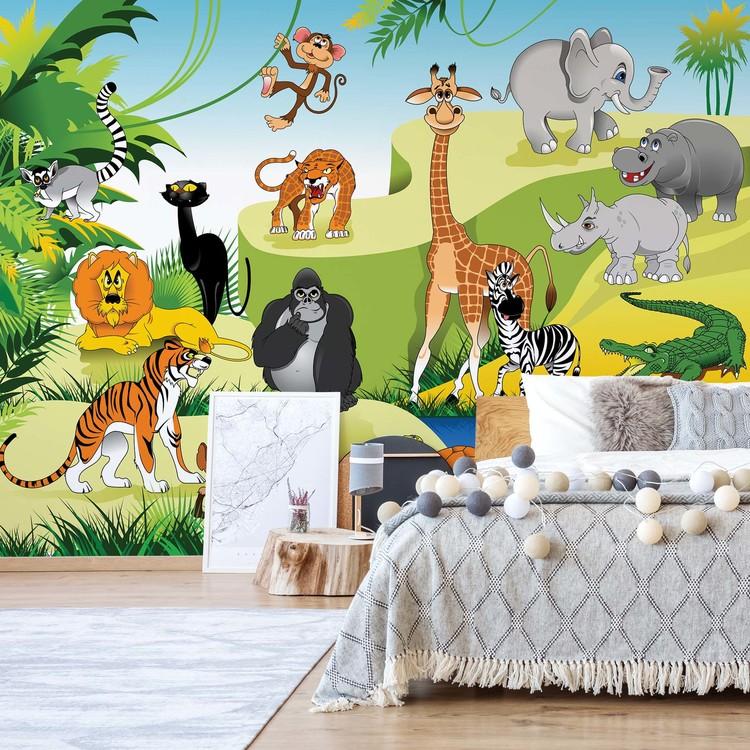 Cartoon Animals Wallpaper Mural