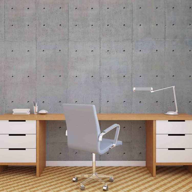 Cement Wal Holes Wallpaper Mural