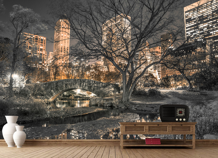 Central Park - Bridge Wallpaper Mural