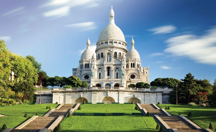 City Basilica Sacred Heart Paris Wallpaper Mural