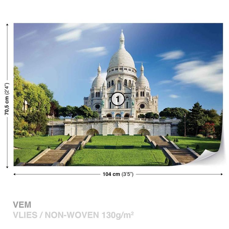 City Basilica Sacred Heart Paris Wallpaper Mural