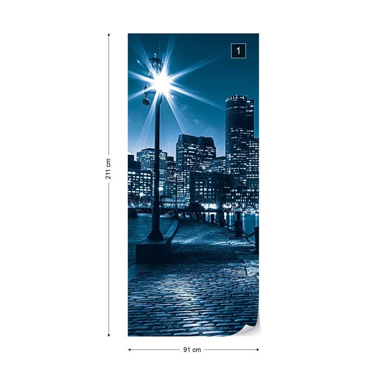 City Boston Skyline Wall Paper Mural