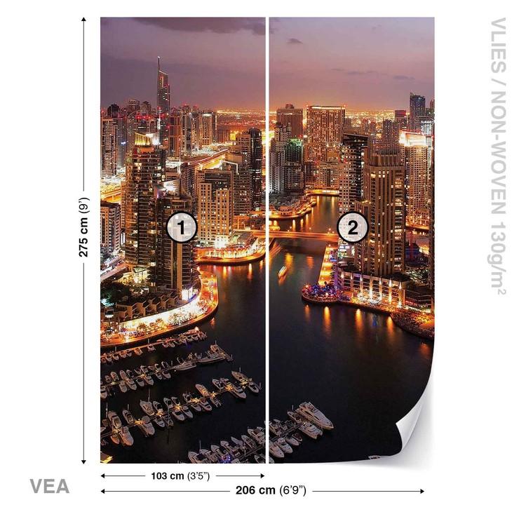 City Dubai Marina Skyline Wallpaper Mural