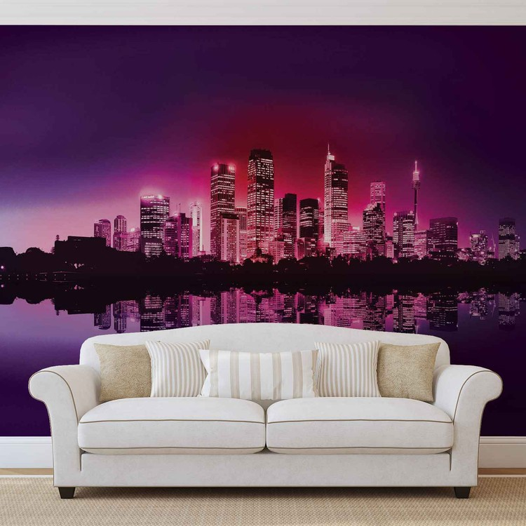 City New York Skyline Wallpaper Mural