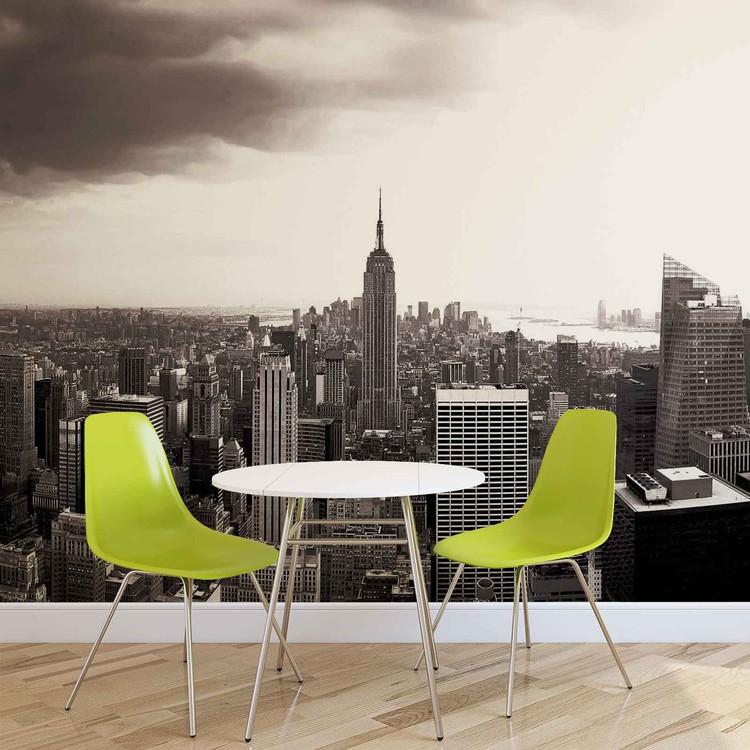 City New York Skyline Empire State Wallpaper Mural