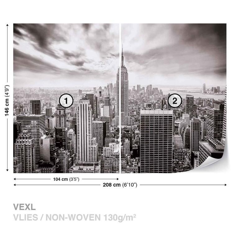 City Skyline Empire State New York Wallpaper Mural