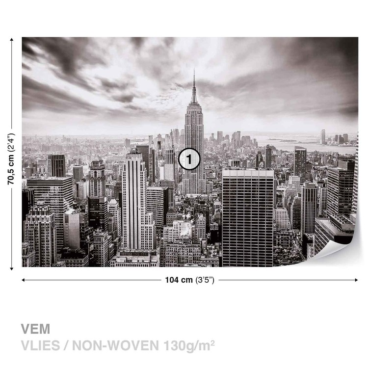 City Skyline Empire State New York Wallpaper Mural
