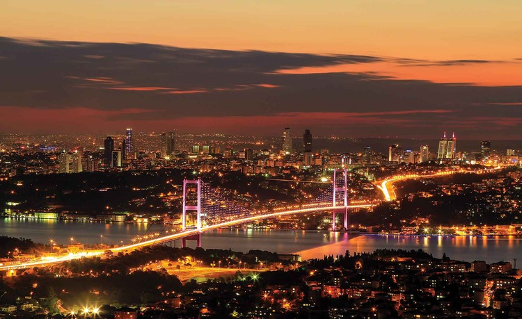 City Skyline Istanbul Bosphorus Wallpaper Mural