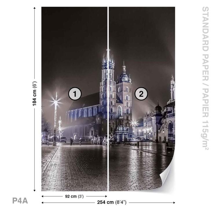 City Skyline Krakow Wallpaper Mural
