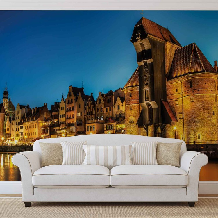 City Skyline Poland Wallpaper Mural