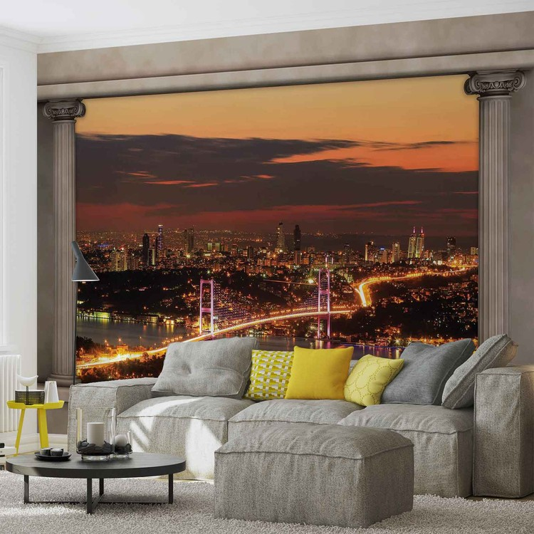 City Skyline View Istanbul Wallpaper Mural