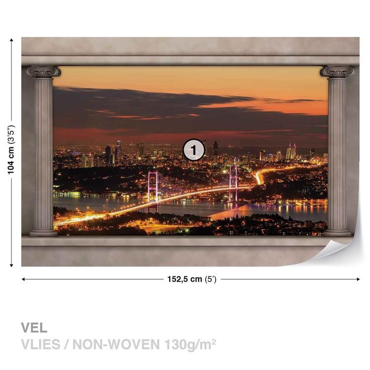 City Skyline View Istanbul Wallpaper Mural