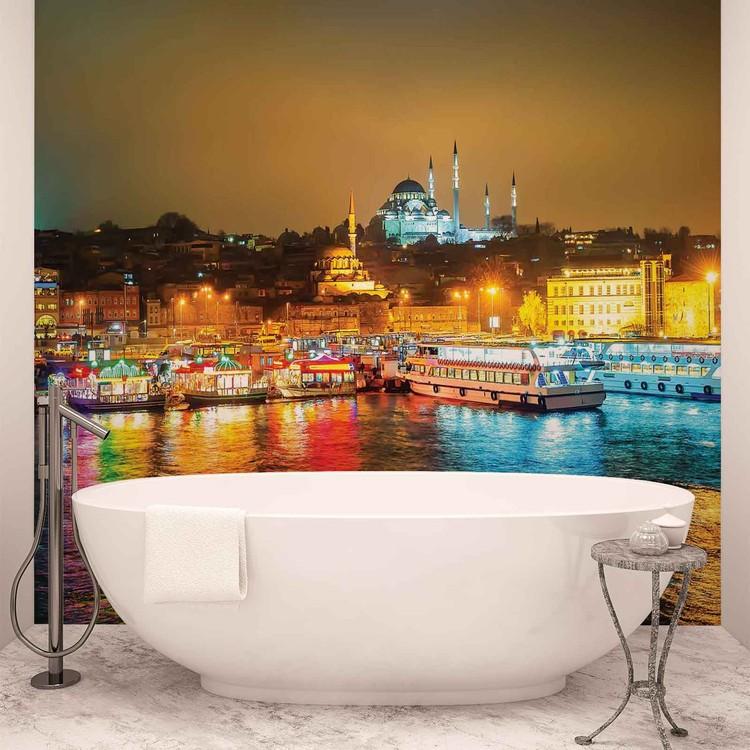 City Turkey Bosphorus Multicolour Wallpaper Mural