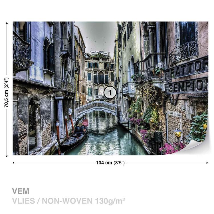City Venice Canal Bridge Art Wallpaper Mural