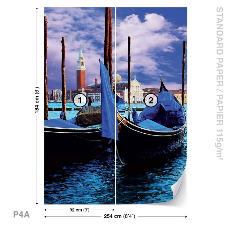 City Venice Gondola Wallpaper Mural