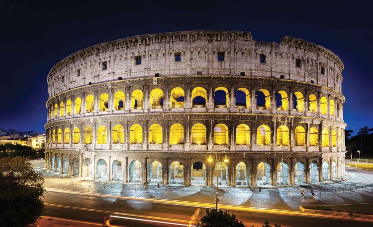 Colloseum At Night Wallpaper Mural