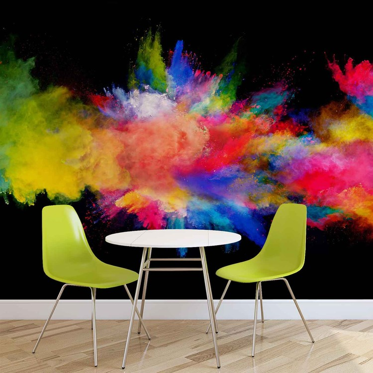 Colour Explosion Wall Paper Mural Buy at EuroPosters