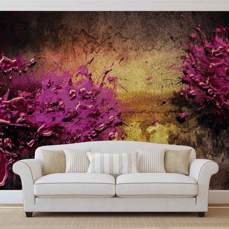 Colour Splash Abstract Wallpaper Mural
