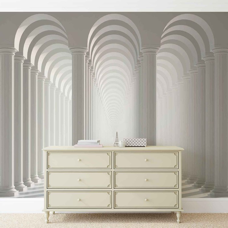Columns Passage Wallpaper Mural