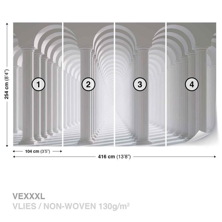 Columns Passage Wallpaper Mural