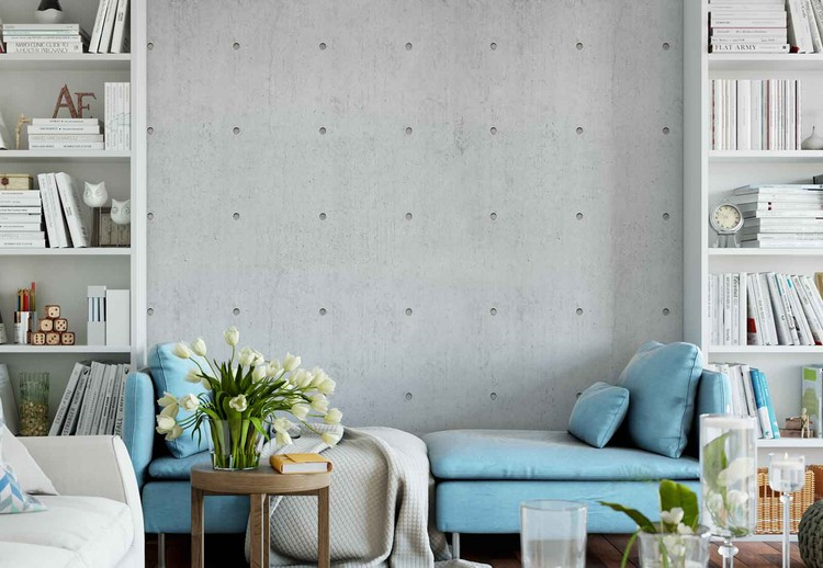 Concrete Dots Wallpaper Mural